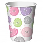 Cute As A Button Girl Cups