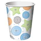 Cute As A Button Boy Cups