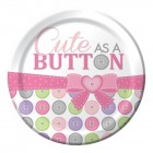 Cute As A Button Girl Lunch Plate