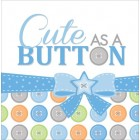 Cute As A Button Boy Lunch Napkins