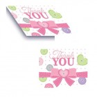 Cute As A Button Girl Thank You Cards
