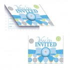 Cute As A Button Boy Invitations