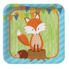 Forest Fox Lunch Plates