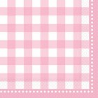 Gingham Lunch Napkins - Pale Pink
