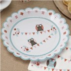 Patchwork Owl Plates