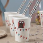 Patchwork Owl Cups