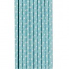 Traditional Paper Straws Blue Polka Dot 20 pack