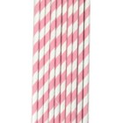 Traditional Paper Straws - Pastel Pink Barber Stripe