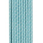 Traditional Paper Straws Blue Polka Dot 20 pack