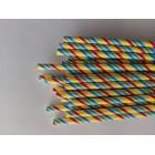 Traditional Paper Straw Multi-coloured Barber Stripe