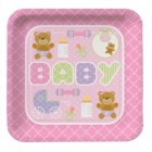 Teddy Bear Pink Dinner Plates