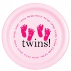 Twins - Pink Lunch Plates