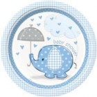 Umbrellaphants Blue Lunch Plates