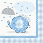 Umbrellaphants Blue Napkins