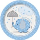 Umbrellaphants Blue Dessert Plates