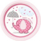 Umbrellaphants Pink Lunch Plates