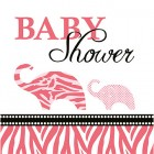 Baby Safari Pink Beverage Napkins