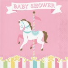 Carousel Lunch Napkin 'Baby Shower'