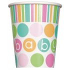 Pastel Baby Shower Cups