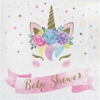 Unicorn Baby 'Baby Shower' Lunch Napkin