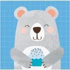 Bear Beverage Napkin