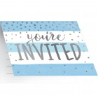 Blue Silver Celebration Invitations