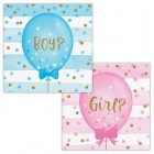 Gender Reveal Balloons Beverage Napkin