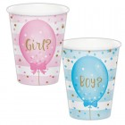 Gender Reveal Balloons Cups
