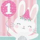 Bunny Lunch Napkins '1st Birthday'