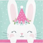 Bunny Beverage Napkins 'Party Hat'