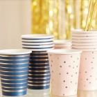Gold Foiled Onesie Gender Reveal Paper Cups