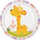 Happi Jungle Lunch Plates - Giraffe