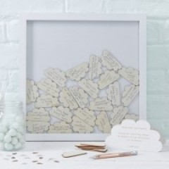 Hello World Cloud Drop Top Frame Guestbook