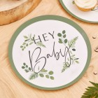 Botanical Hey Baby Plates