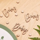 Botanical Hey Baby Wooden Confetti