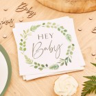 Botanical Hey Baby Napkins