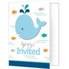 Lil Spout Blue Invitations 'You're Invited'