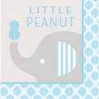 "Little Peanut Boy Lunch Napkins ""Little Peanut"""