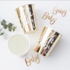 Gold Foiled 'Oh Baby!' Cups