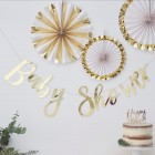 Gold Foiled 'Baby Shower' Bunting