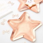 Twinkle Twinkle Rose Gold Star Shaped Plates