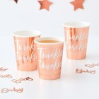 Twinkle Twinkle Rose Gold Cups