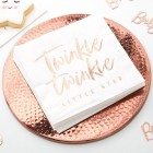 Twinkle Twinkle Rose Gold Napkins