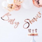 Twinkle Twinkle Rose Gold 'Baby Shower' Bunting
